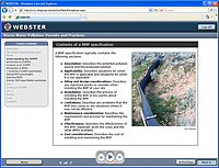 Screenshot of the web course, Storm Water Pollution